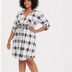Torrid Plaid Shirt Dress